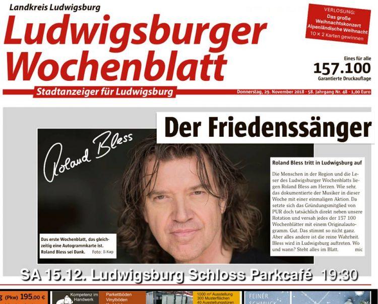 Roland Bless - der Friedenssänger - Presse