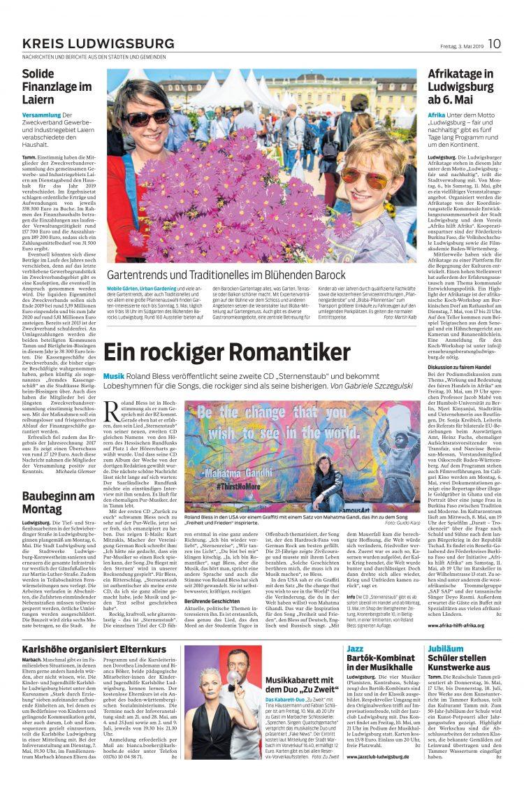 ein rockiger Romantiker - Roland Bless - Kreis Ludwigsburg